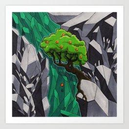 Emeralds or Oranges Art Print