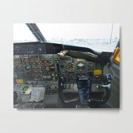 737 Airliner Cockpit Metal Print