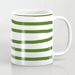 Simply Drawn Stripes in Jungle Green Coffee Mug