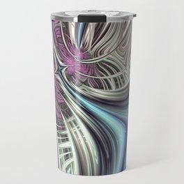 Cosmic Orchid - Fractal Art Travel Mug