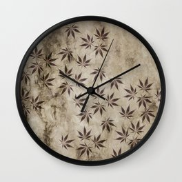 Marijuana Marble Wall Clock