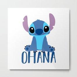 Stitch Ohana Metal Print