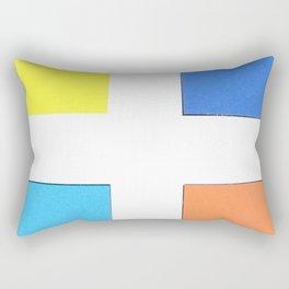 Squares in cross Rectangular Pillow