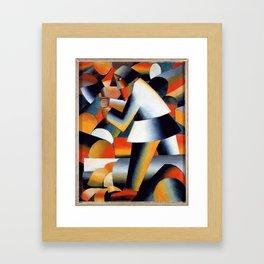Woodcutter - Kazimir Malevich Framed Art Print