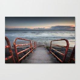 Aberavon beach handrail Canvas Print