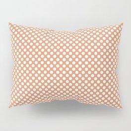 Copper Tan and White Polka Dots Pillow Sham