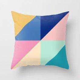Bold Colorful Geometrics Throw Pillow
