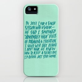Single Session with Shrink iPhone Case