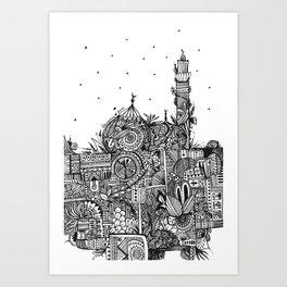 Botanical Mosque (Ramadan Theme) Art Print