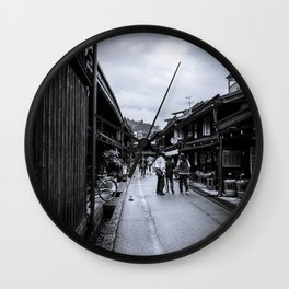 Old Japan Monochrome Wall Clock