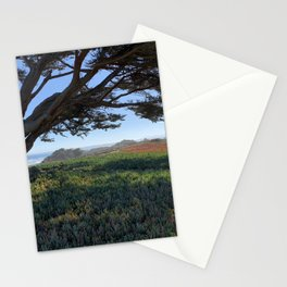 Wind blown tree along the California coast, Monterey Bay Stationery Cards