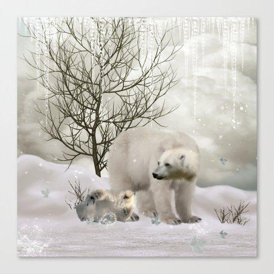 Awesome polar bear Canvas Print