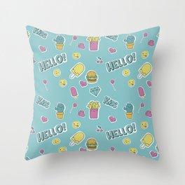 Food pattern Throw Pillow