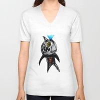hero V-neck T-shirts featuring Hero by landon zobel
