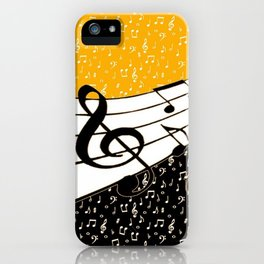 Gold music theme iPhone Case