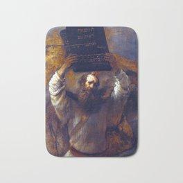 Rembrandt Moses with the Ten Commandments Bath Mat