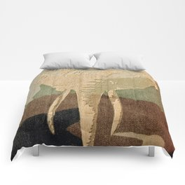 Elephant in the Jungle Camouflage Comforters