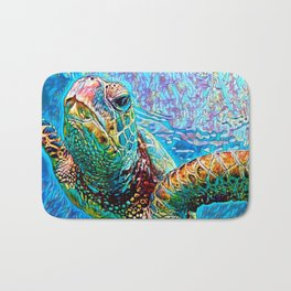 Gliding Through Colors Bath Mat