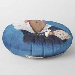 Johann Sebastian Bach the Guinea Pig Floor Pillow