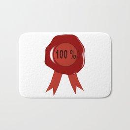 Wax Stamp 100 Percent Bath Mat