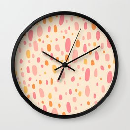 Besotted & Spotted - Warm Colors Wall Clock