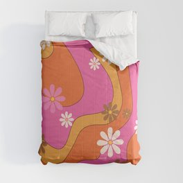 Groovy 60's and 70's Flower Power Pattern Comforters
