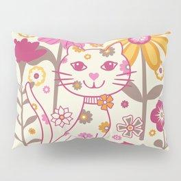 Garden Cat Pillow Sham