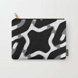 Dark Geometric Print Carry-All Pouch