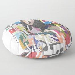 Monalisa Cubism Style Floor Pillow