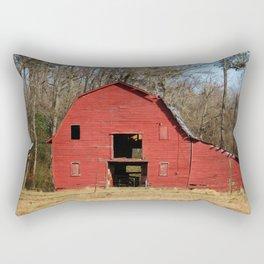 Weathered Red Barn Rectangular Pillow