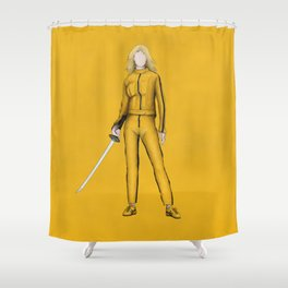 The Bride without a face (Kill Bill) Shower Curtain