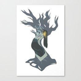 Blossom Grey Canvas Print