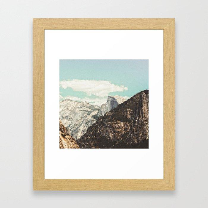Half Dome Peek Framed Art Print