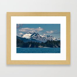 Kachemak_Bay Mountains - Alaska Framed Art Print