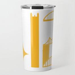 Pittsburgh City Skyline 412 Gold Shirts Gifts Travel Mug