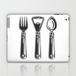 Life set. Lover to eat. Hungry. Glutton. Food Lover. Spoon and a fork. Heavy eater. Eat. Food. Laptop & iPad Skin