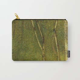 Maidenhair, Aspen, Ginkgo Biloba, Birch Tree Forest landscape painting by Georges Seurat  Carry-All Pouch