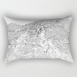 Cleveland White Map Rectangular Pillow