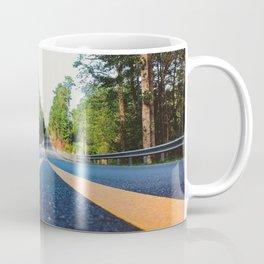 Between yellow lines Coffee Mug