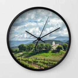 Vineyards, Temecula, CA Wall Clock