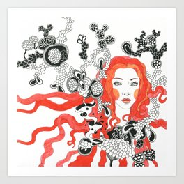 Hair 3 Art Print