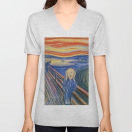 "Edvard Munch ""The Scream"" (1895)(pastel) Unisex V-Neck"