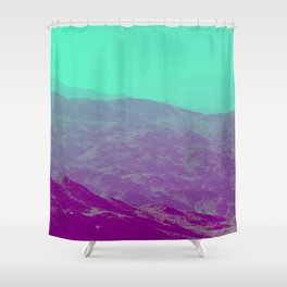 Palm Springs Mountains III Shower Curtain