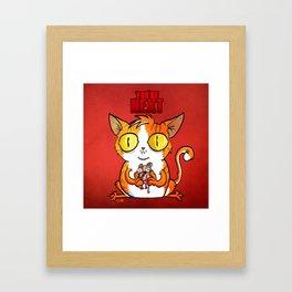 Cat- You're next! Framed Art Print