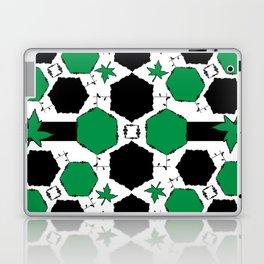 Green Black Laptop & iPad Skin