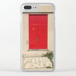 Fire Exit Clear iPhone Case