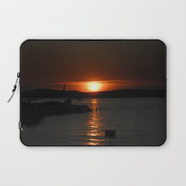 Silver Lake Sunset Landscape Laptop Sleeve
