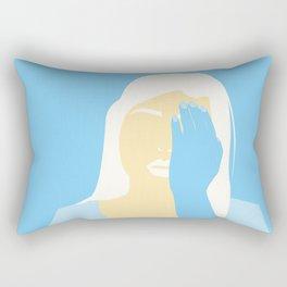winter sadness Rectangular Pillow