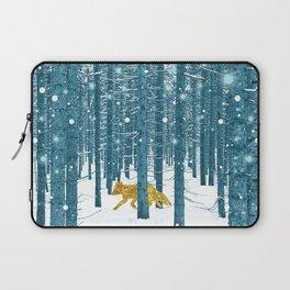 A Golden Fox In The Wild Laptop Sleeve