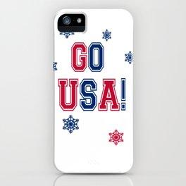 Winter Games - Go USA! iPhone Case
